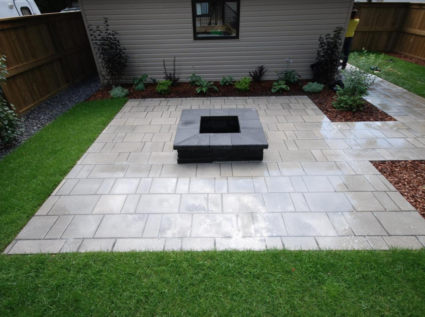 Interlock patio